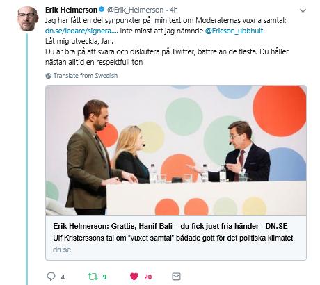 Erik helmerson dubbla budskap fran s om tiggeriet