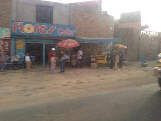 Kravaller i mexikansk turistort
