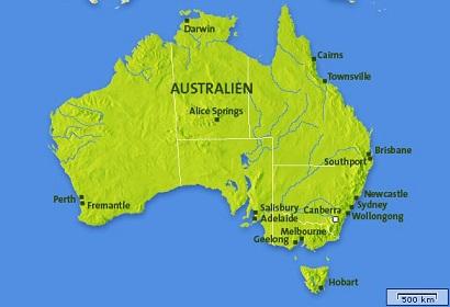 Karta Australien Adelaide.Ericson I Ubbhult